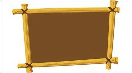 Wooden frame vector material