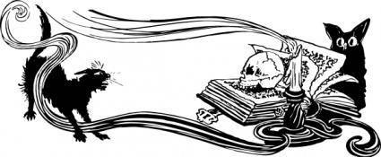 free vector Spooky Scene clip art
