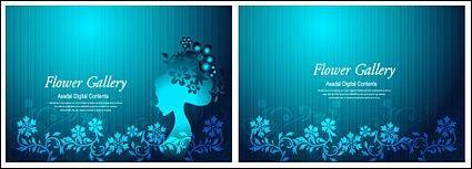free vector Flower and beauty vector material-3