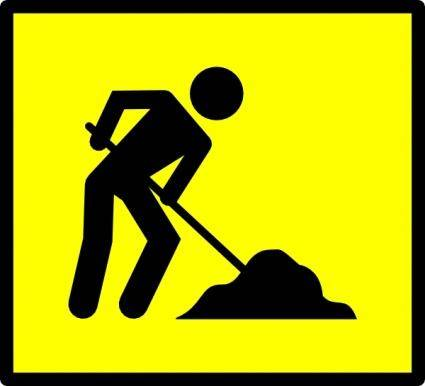 Road Work clip art