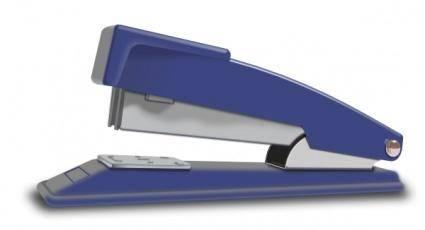 Blue Stapler clip art