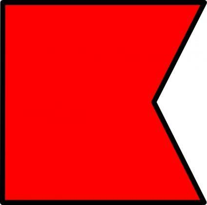 International Maritime Signal Flag Bravo clip art