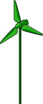 free vector Energy Positive Wind Turbine Green clip art