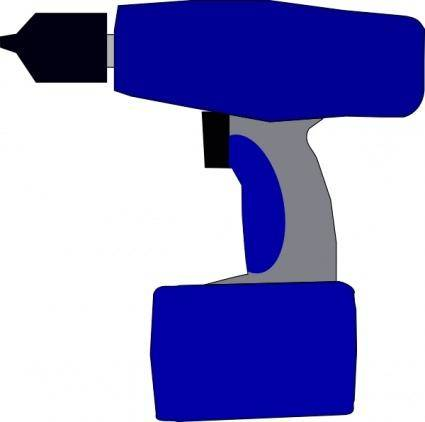 free vector Electric Battery Drill clip art