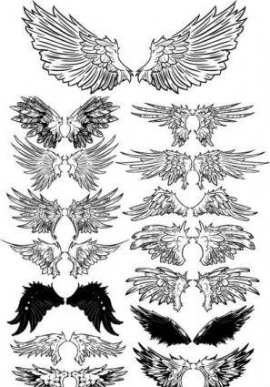 free vector Wings set