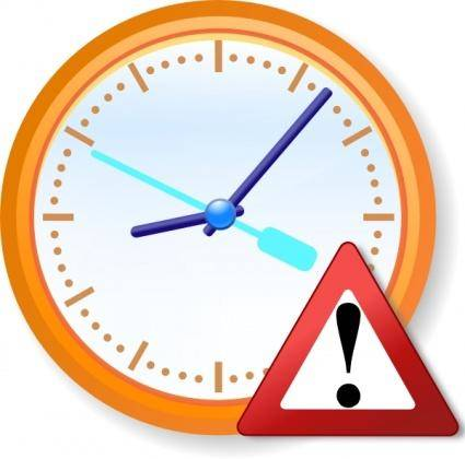 Analog Clock Warning clip art