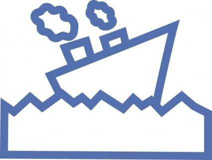 Sailing Motor Ship clip art