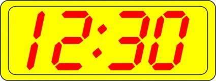 free vector Digital Clock 12:30 clip art