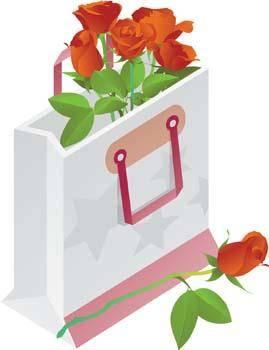 free vector Present Flower Vector 6