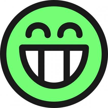 Flat Grin Smiley Emotion Icon Emoticon clip art