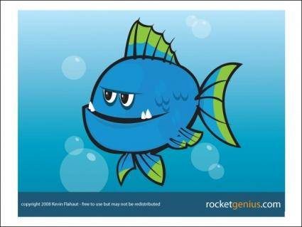 free vector Blue Fish