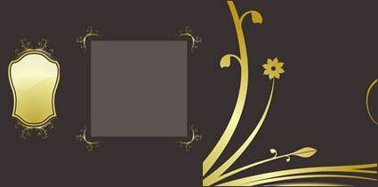 free vector Gold lace