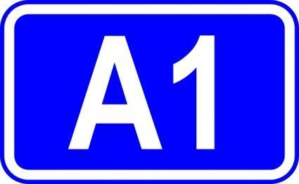 A1 Road Sign clip art
