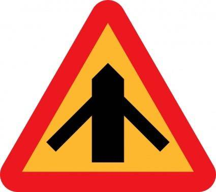 Road Layout Sign clip art