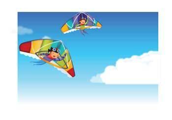 free vector Hang glider