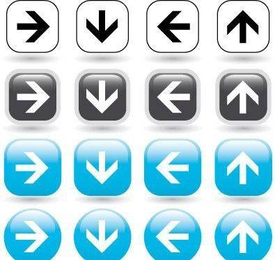free vector Directional arrow icons