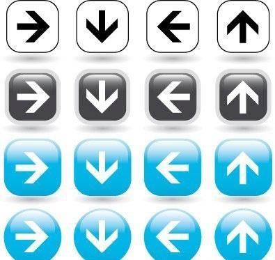 Directional arrow icons