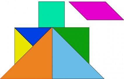 free vector Tangram-22 clip art