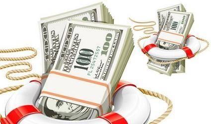 free vector U.S. life buoy rope 100 dola money