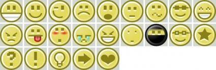 free vector Smiley Icons Collection clip art