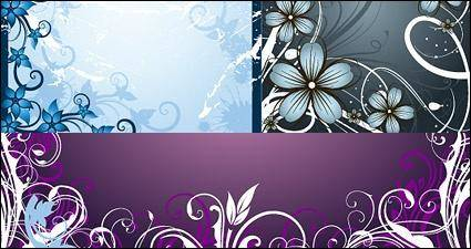 free vector Fashion flowers frame material