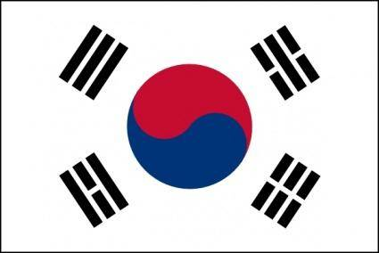 free vector Jp Draws South Korean Flag clip art