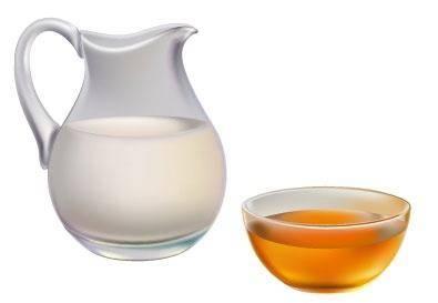 free vector Milk and honey