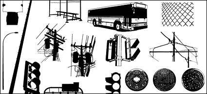 free vector Go Media produced vector material - urban public facilities