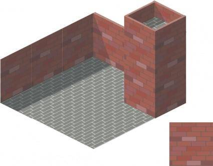 Brick Tile Isometric clip art