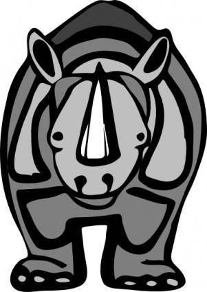 free vector Rhinoceros clip art