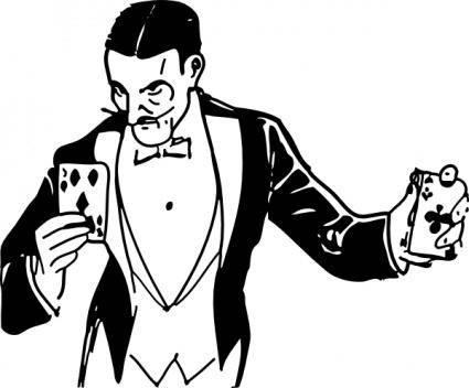 free vector Magician Card Trick clip art
