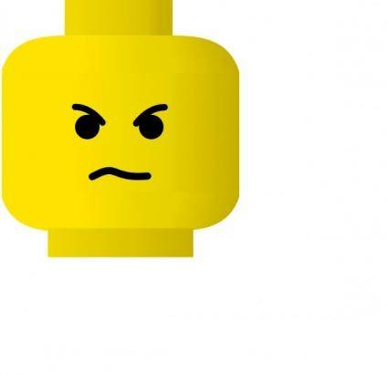 Lego Smiley Angry clip art
