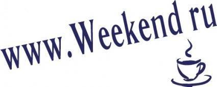 free vector Weekend web logo