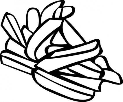 free vector French Fries  clip art