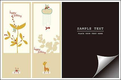 free vector Bookmark with lovely pictorial paper angle vector material