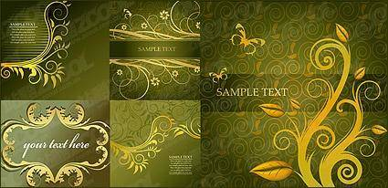 Gorgeous fashion pattern vector material