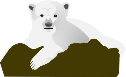 The Polar Bear clip art