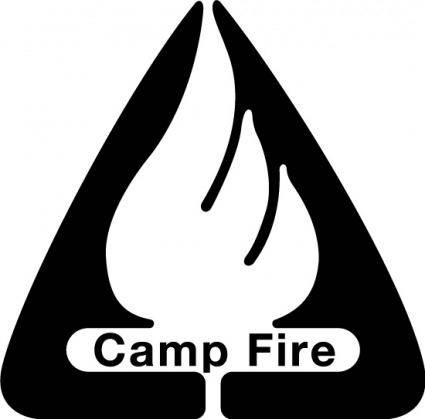 free vector Camp Fire logo