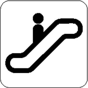 Escalator Sign Board Vector