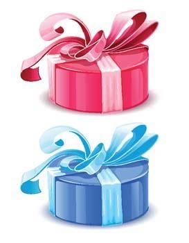 free vector Blue and pink gift boxes