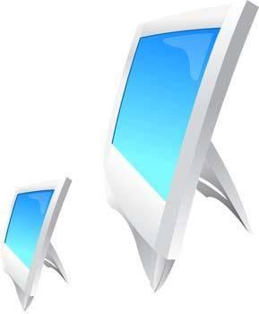 free vector LCD Monitor Vector 8