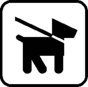 Dog Area Sign Board Vector