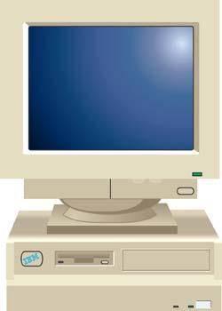 Dekstop computer vector 30