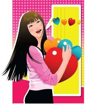 free vector Heart vector 28