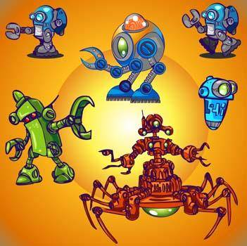 free vector Space Robot Vector 3