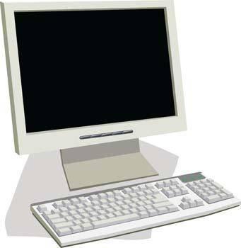 free vector LCD Monitor Vector 4