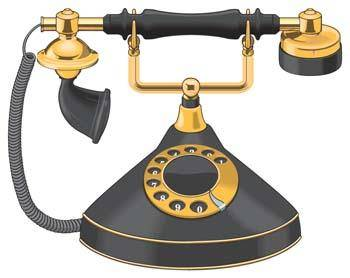 Classic phone vector