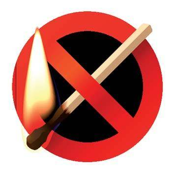 free vector Burning match sign