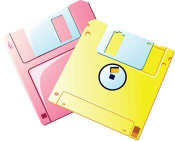 free vector Floppy disc vector 2