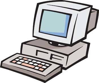 Classic dekstop computer vector